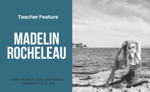 Madelin Rocheleau teaches at the Victoria Yoga Conference