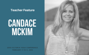 Candace McKim teaches at the Victoria Yoga Conference