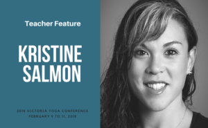 Kristine Salmon teaches at the Victoria Yoga Conference